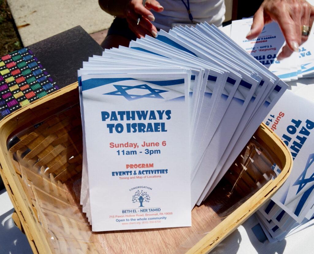 Pathways to Israel Event program book